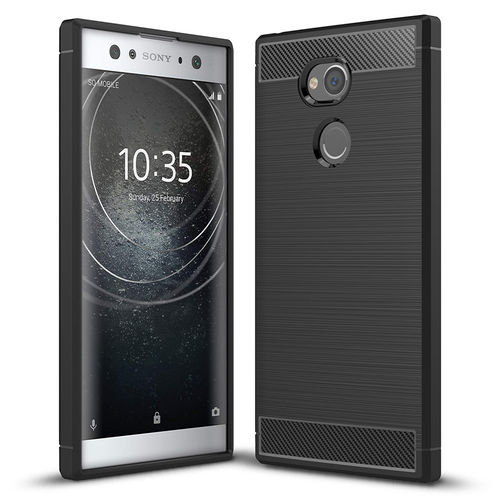 Flexi Slim Carbon Fibre Case for Sony Xperia XA2 Ultra - Brushed Black